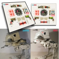 Star Wars Vintage AT-ST decals (PDF) - FREE